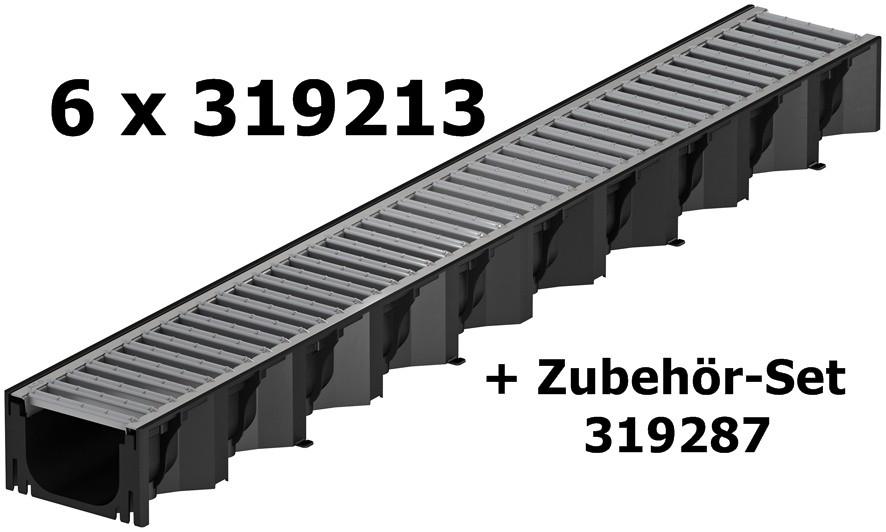 aco self hexaline 2 0 rinne mit stahlstegrost verzinkt. Black Bedroom Furniture Sets. Home Design Ideas