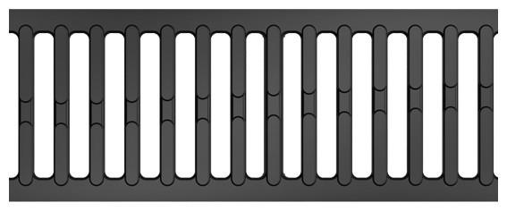 aco self rost gusseisen 50cm garten hof entw sserung rinnensysteme hexaline. Black Bedroom Furniture Sets. Home Design Ideas