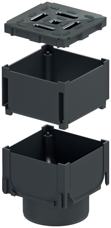 aco self hexaline eckst ck mit stutzen verl ngerung und. Black Bedroom Furniture Sets. Home Design Ideas