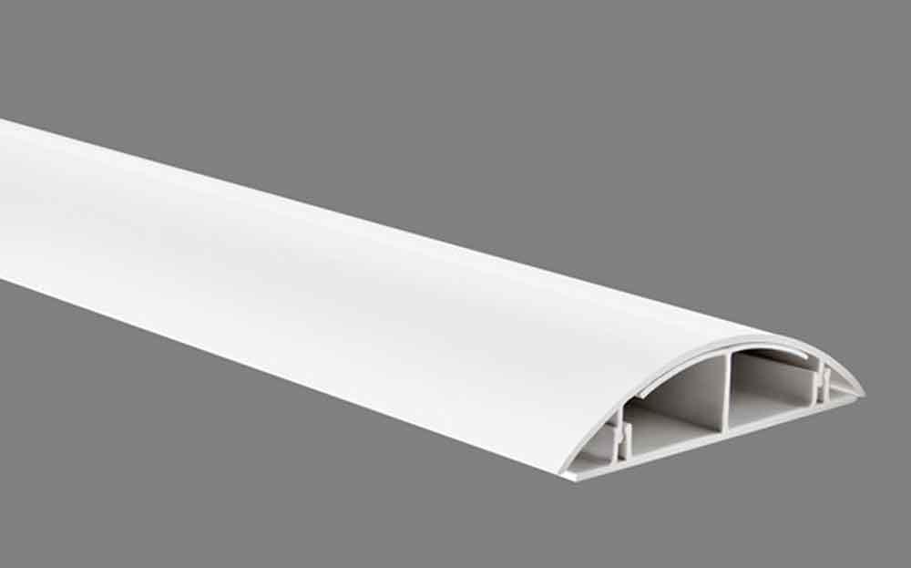 kabelkanal design kabelkanal inkl schrauben zum befestigen versch l ngen weiss matt haus. Black Bedroom Furniture Sets. Home Design Ideas