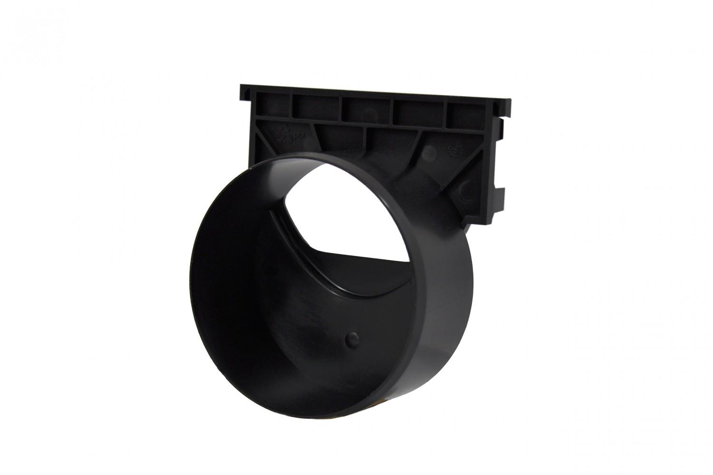 aco self hexaline 2 0 stirnwand mit stutzen schwarz. Black Bedroom Furniture Sets. Home Design Ideas