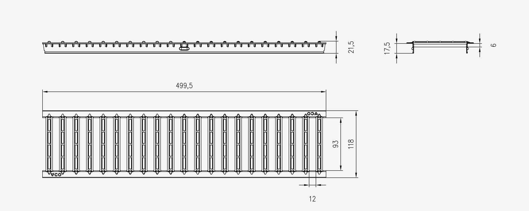 aco self rost stegrost stahlverzinkt anthrazit 50cm ebay. Black Bedroom Furniture Sets. Home Design Ideas