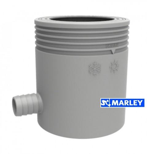 marley regensammler mit filter und berlaufstop dn 53 75 mm grau ebay. Black Bedroom Furniture Sets. Home Design Ideas