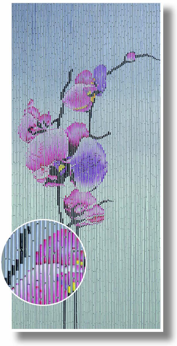 T rvorhang bambusvorhang orchidee bambus raumteiler for Deko vorhang raumteiler