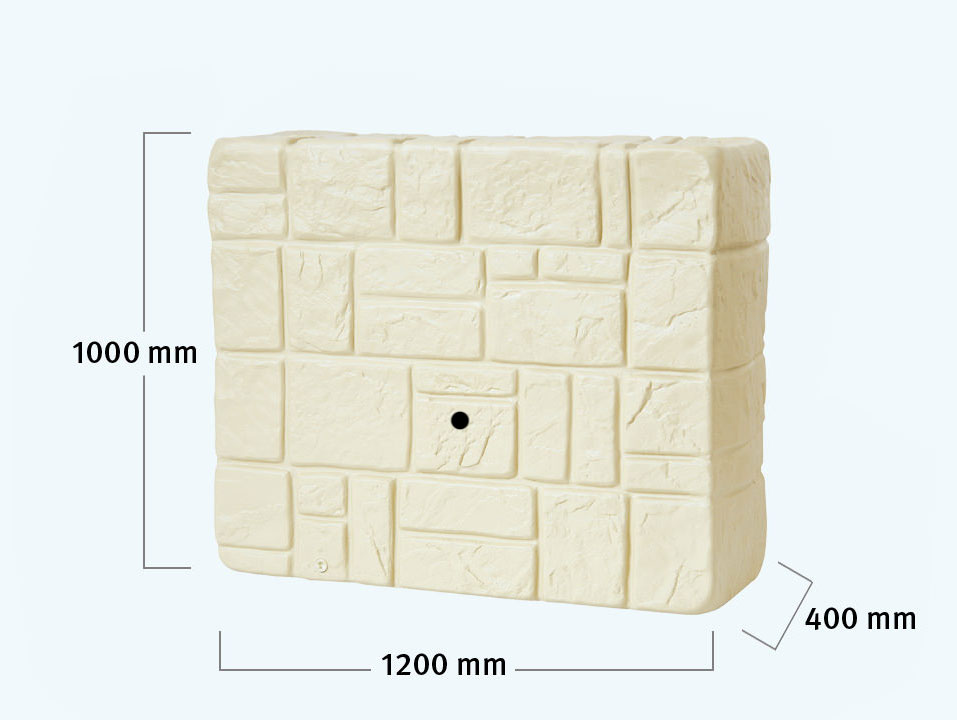 wandtank 300l beige regentank wassertank gartentank. Black Bedroom Furniture Sets. Home Design Ideas
