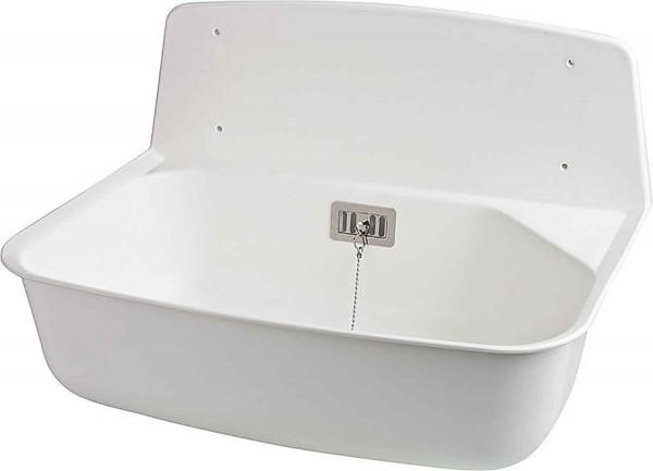 kunststoff universal ausgussbecken handwaschbecken marion farbe weiss ebay. Black Bedroom Furniture Sets. Home Design Ideas