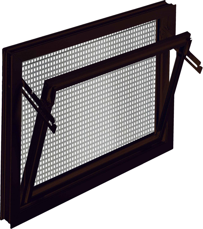 aco 100x60cm nebenraumfenster einfachglas schutzgitter. Black Bedroom Furniture Sets. Home Design Ideas