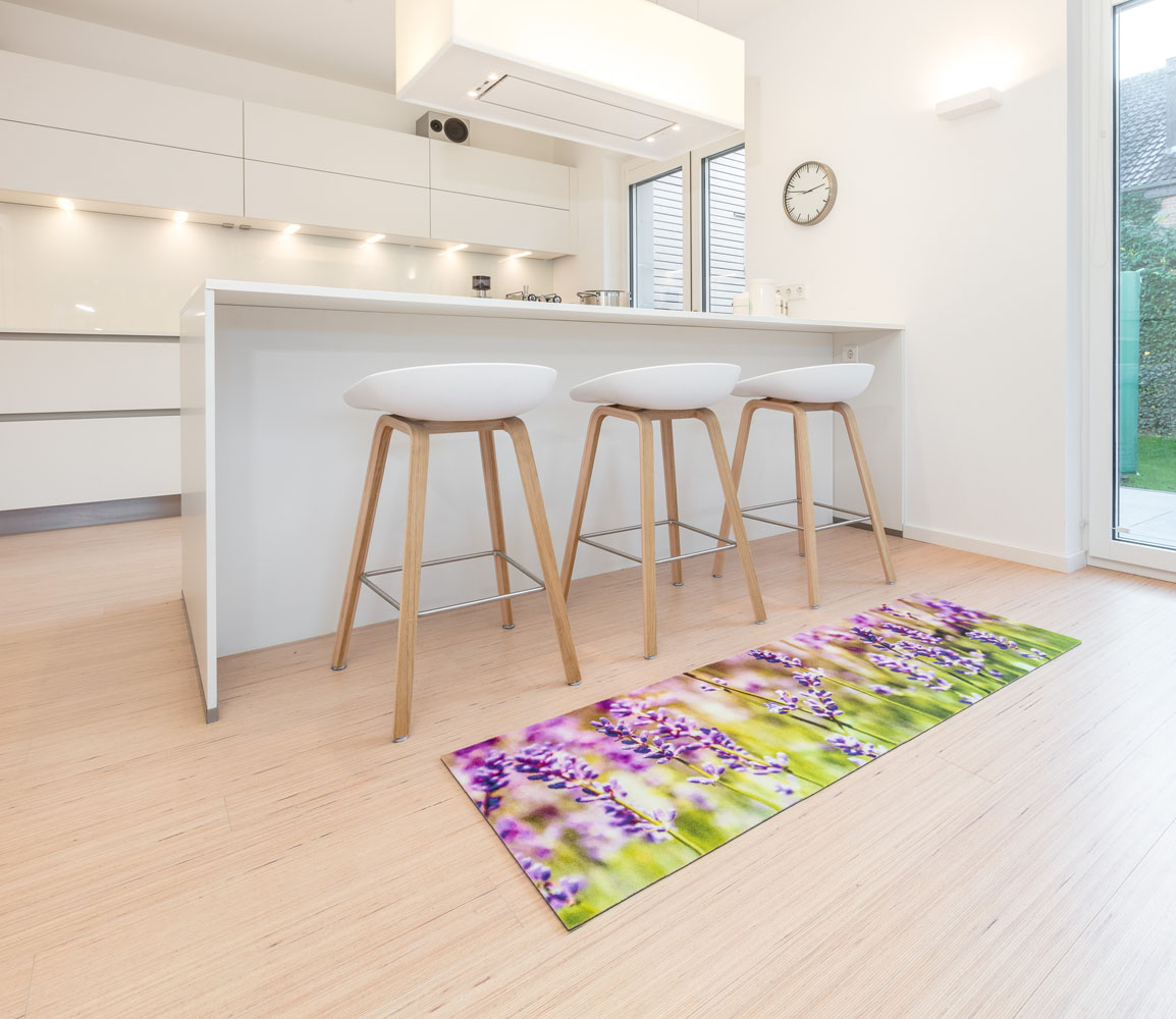 Küchenmatte Lavendel Küchenteppich Küche Laüfer Teppich Küchenläufer ...