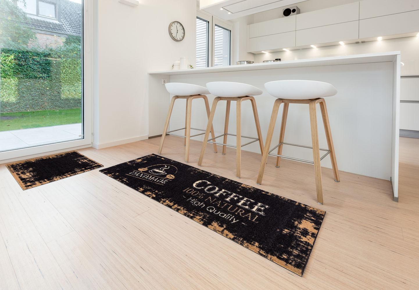 Küchenmatte Kaffee Küchenteppich Teppichläufer Küche Laüfer Teppich ...