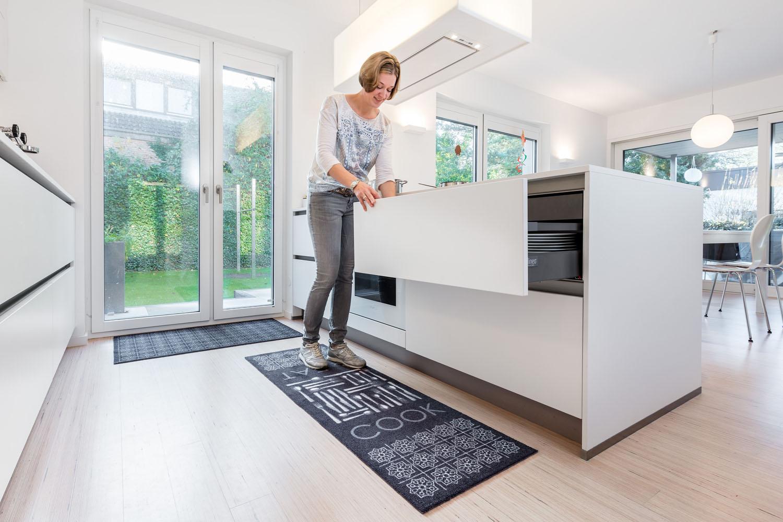 Küchenmatte schwarz Küchenteppich Teppichläufer Küche Laüfer Teppich ...