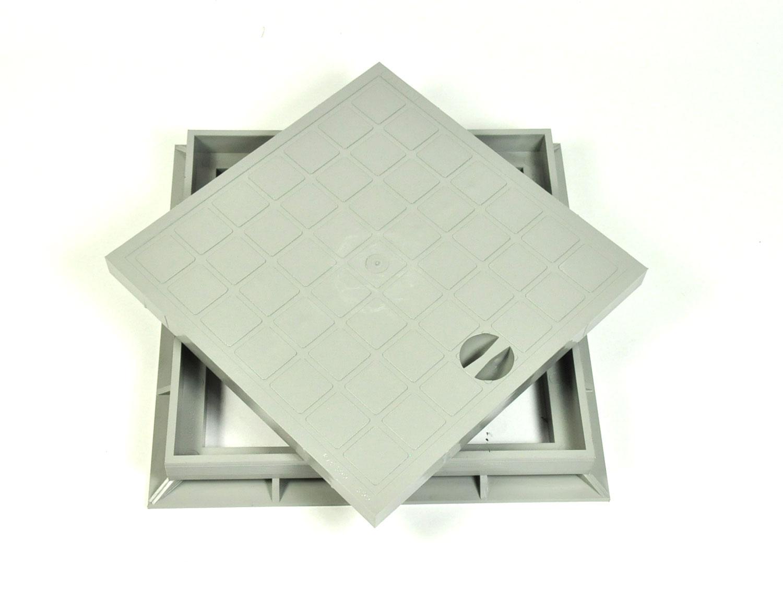 Schachtdeckel mit Rahmen 30x30 cm für Einlaufschacht ...