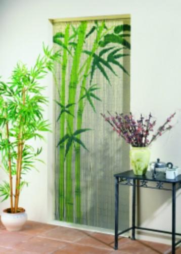 Dekovorhang t rvorhang bambus bambusvorhang fliegenvorhang for Deko vorhang raumteiler